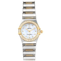 Ladies Omega Constellation Steel Yellow Gold Diamond Mini 1365.71.00