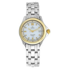 Ladies Omega Seamaster 2301.20 Stainless Steel Gold Quartz Watch