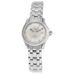 Ladies Omega Seamaster 5961501 Stainless Steel Date Quartz Watch