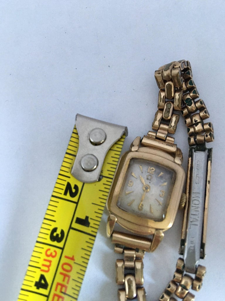 Ladies Omega Vintage Gold-Plated Mechanical Watch For Sale 6