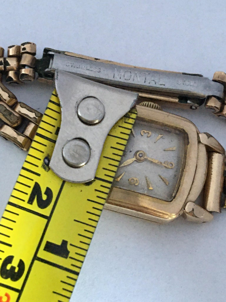 Ladies Omega Vintage Gold-Plated Mechanical Watch For Sale 7