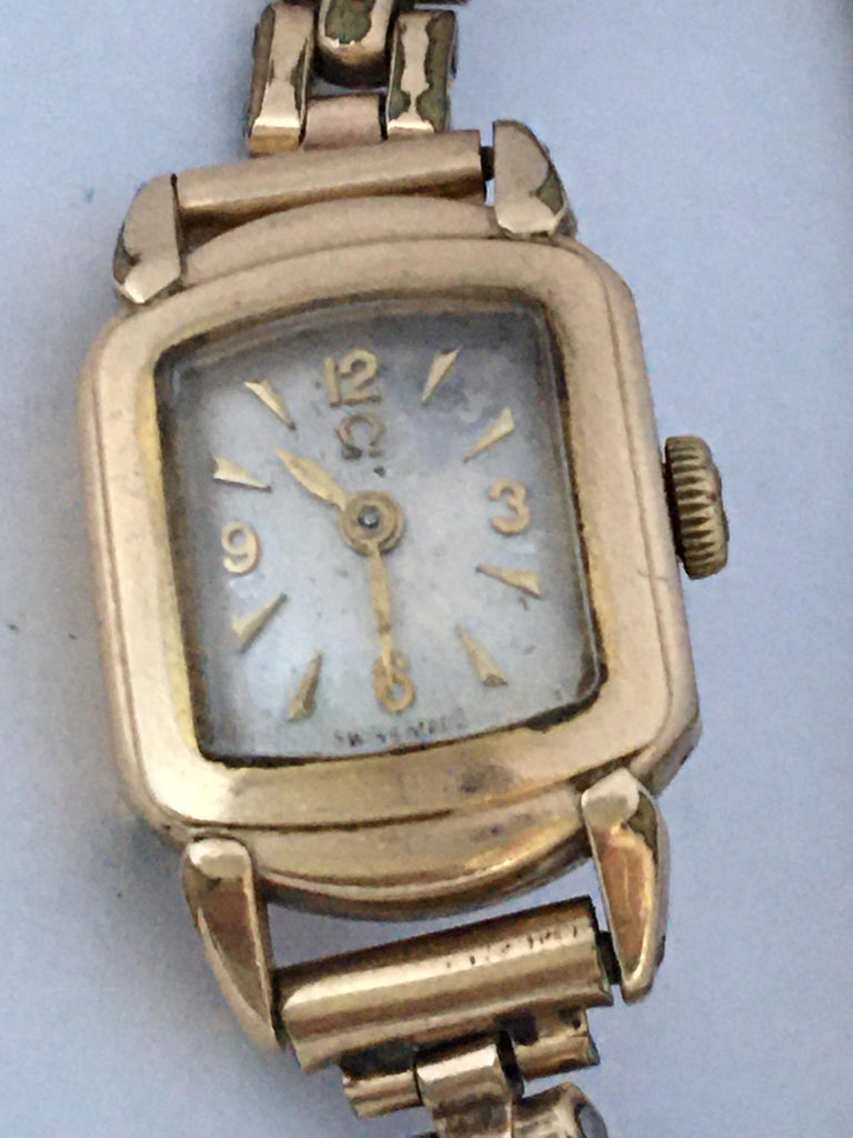Ladies Omega Vintage Gold-Plated Mechanical Watch For Sale 8