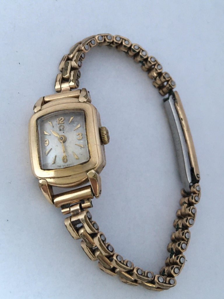 Ladies Omega Vintage Gold-Plated Mechanical Watch For Sale 9