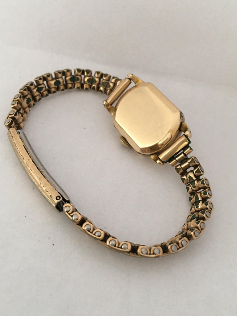 Ladies Omega Vintage Gold-Plated Mechanical Watch For Sale 10