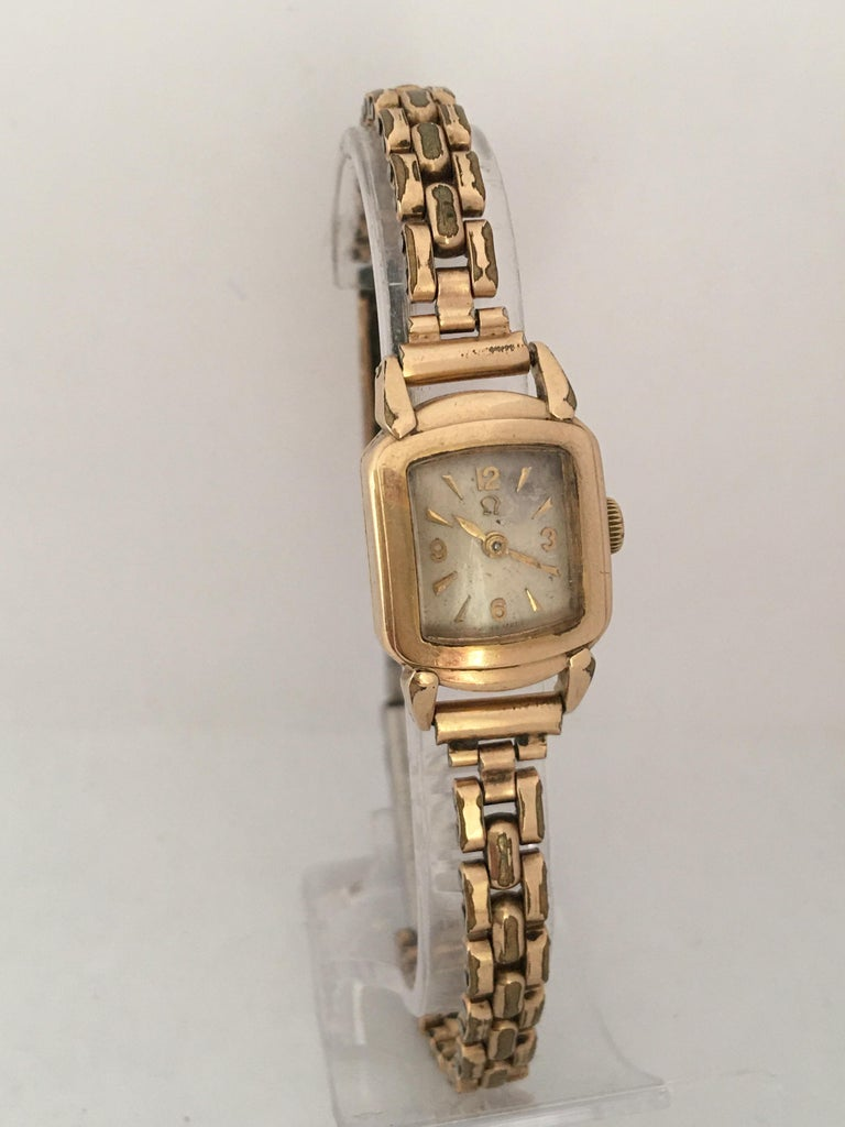 Ladies Omega Vintage Gold-Plated Mechanical Watch For Sale 12
