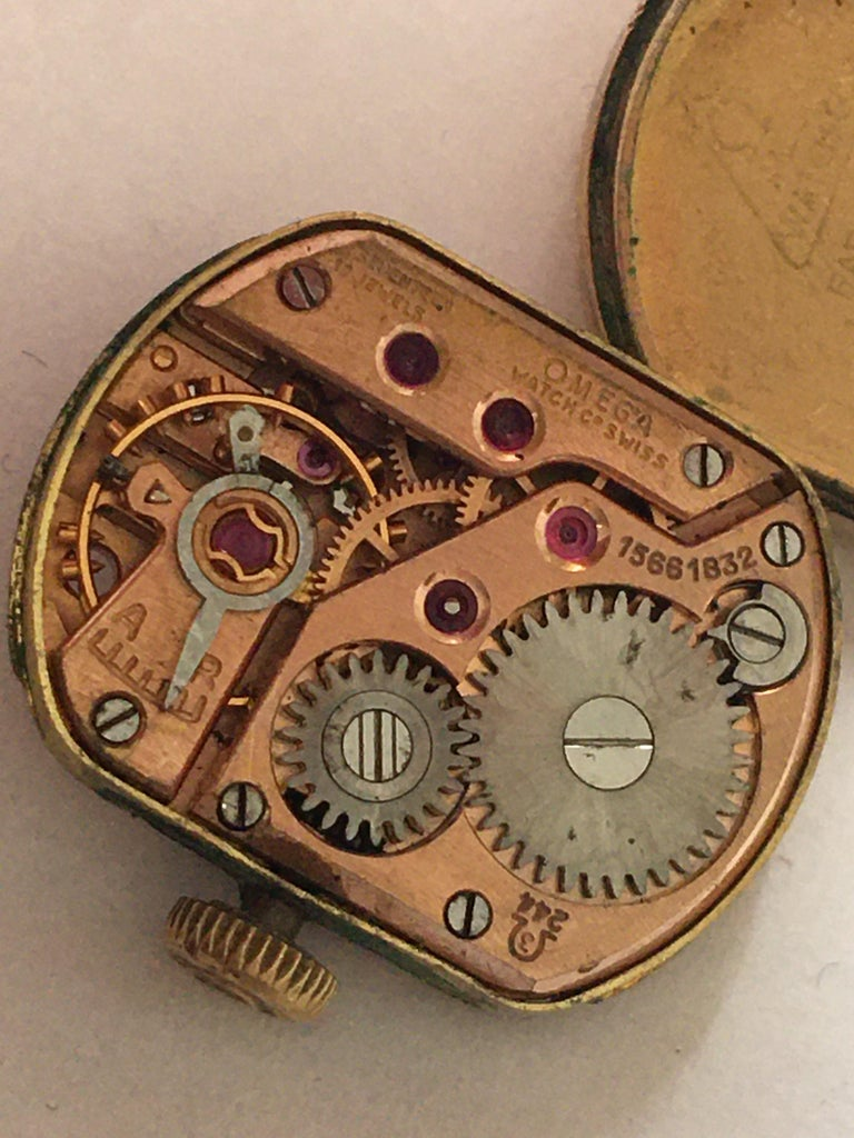 Ladies Omega Vintage Gold-Plated Mechanical Watch For Sale 13