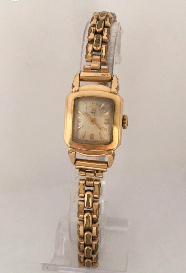 Ladies Omega Vintage Gold-Plated Mechanical Watch For Sale 15