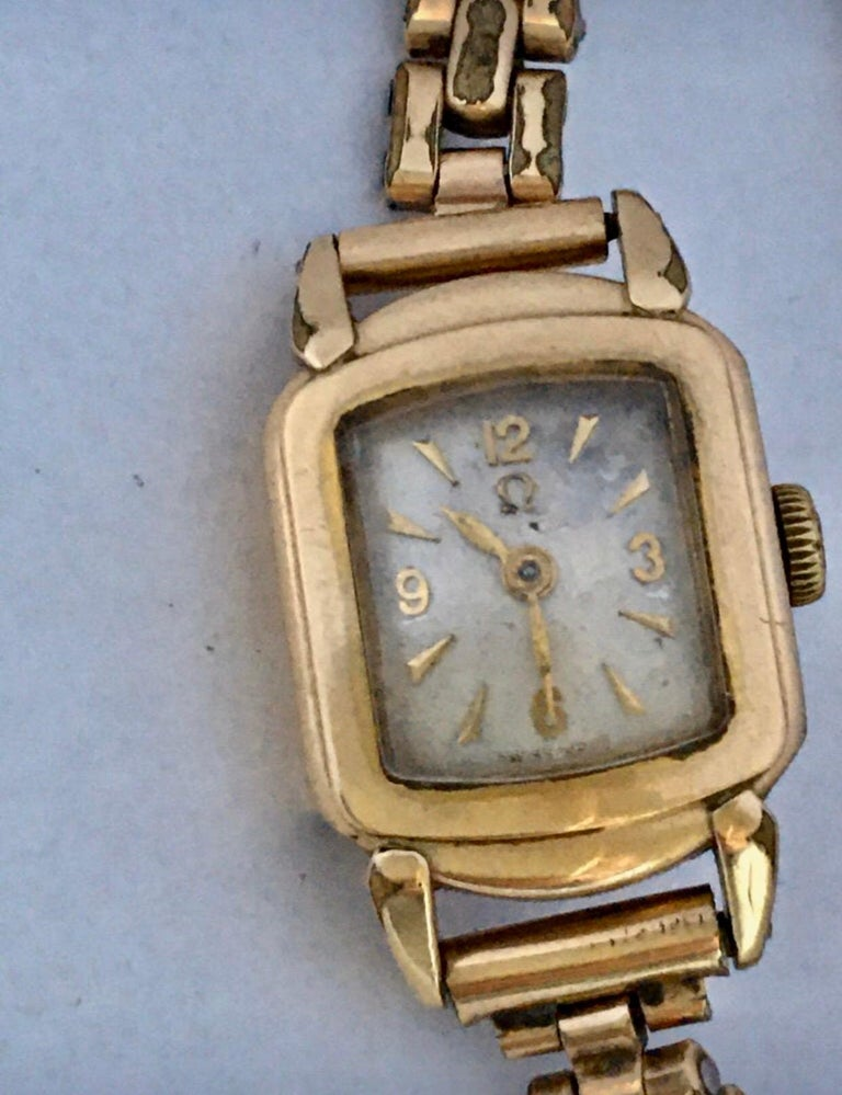 Ladies Omega Vintage Gold-Plated Mechanical Watch For Sale 16