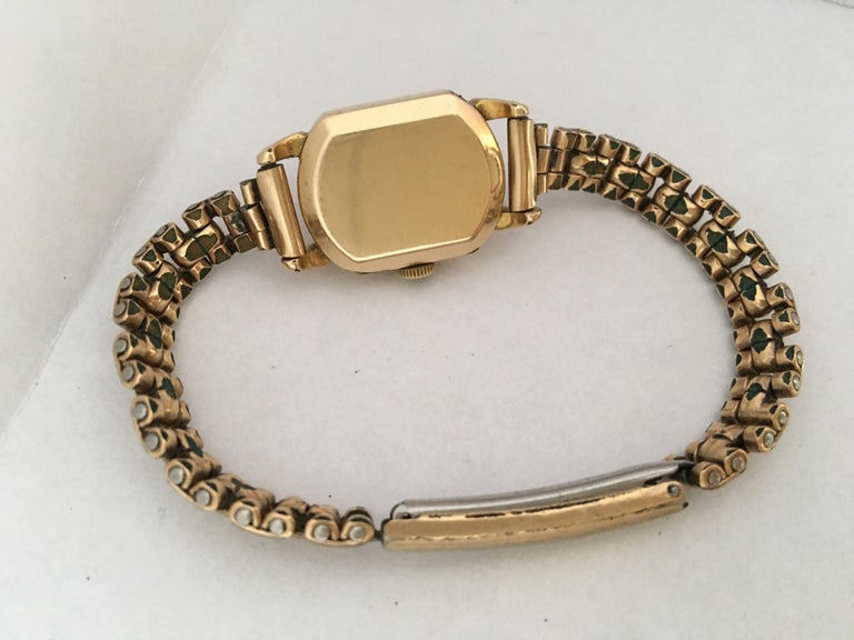 Women's Ladies Omega Vintage Gold-Plated Mechanical Watch For Sale