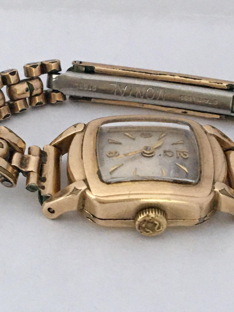 Ladies Omega Vintage Gold-Plated Mechanical Watch For Sale 1