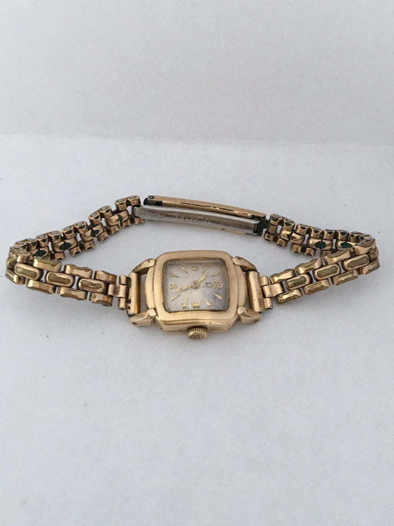 Ladies Omega Vintage Gold-Plated Mechanical Watch For Sale 2