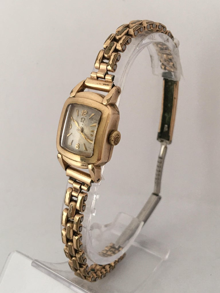 Ladies Omega Vintage Gold-Plated Mechanical Watch For Sale 4