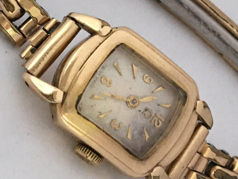 Ladies Omega Vintage Gold-Plated Mechanical Watch For Sale 5