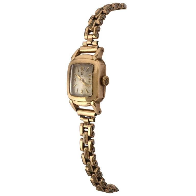 Ladies Omega Vintage Gold-Plated Mechanical Watch For Sale