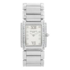 Ladies Patek Philippe Twenty-4 18 Karat White Gold and Diamond Watch 4910/20G
