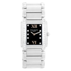 Ladies Patek Philippe Twenty-4 18k White Gold & Diamond Watch 4910/20G