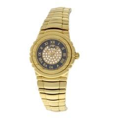 Ladies Piaget Tanagra 18 Karat Yellow Gold Diamond Quartz Watch