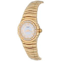 Ladies' Piaget Tanagra 18 Karat Yellow Gold with Factory Diamond Bezel
