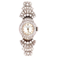 Lady Platinum Patek Philippe 11 Carat Diamond & Attachment Brooche Circa 1950