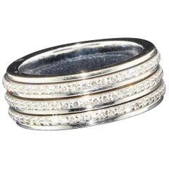 Ladies Ring Piaget Possession in 18 Karat White Gold with 1.53 Carat Diamonds