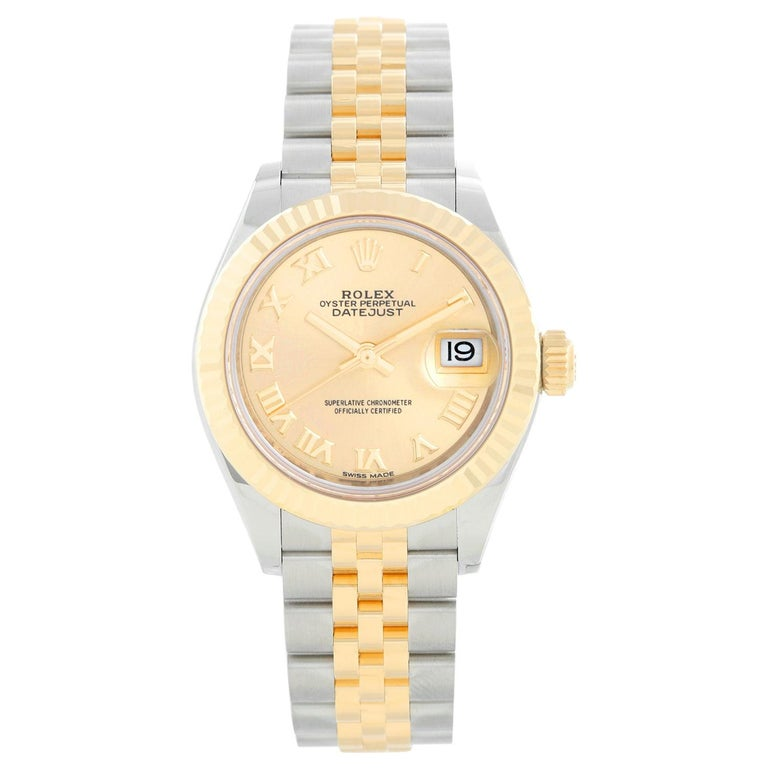 Ladies Rolex Datejust 18K Yellow Gold and Stainless Steel 279173 For Sale