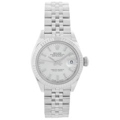 Ladies Rolex Datejust Stainless Steel Silver Dial 279174