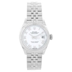 Ladies Rolex Datejust Stainless Steel White Dial 279174