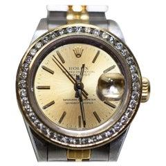 Ladies Rolex Datejust Two-Tone with Diamond Bezel