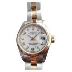 Ladies Rolex Oyster Datejust 18k Gold & SS Automatic, c.2000s Swiss RA155