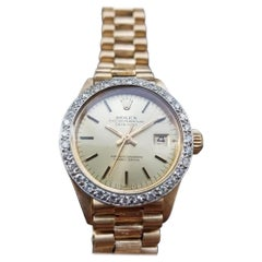 Ladies Rolex Oyster Datejust 6917 18k Gold Diamond Automatic, c.1970s LV889
