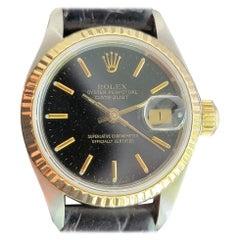 Ladies Rolex Oyster Datejust 69173 18k Gold & SS Automatic 1980 w/Box MA202