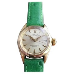 Ladies Rolex Oyster Perpetual 6619 14k Gold Dress Watch, c.1960s RA134GRN