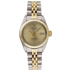 Ladies Rolex Oyster Perpetual Date 6917 18 Karat Yellow Gold