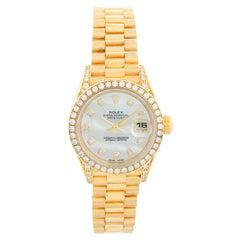 Ladies Rolex President 18 Karat Gold and Diamond Watch 79158