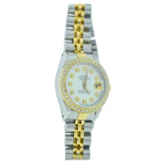 Ladies Rolex Two-Tone Mother of Pearl Diamond Bezel and Dial
