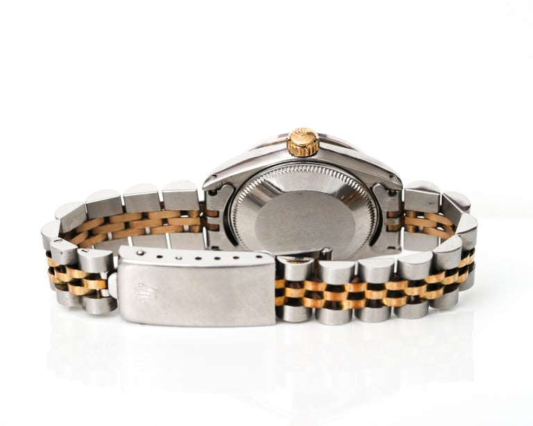Retro Ladies Rolex with 2.5 Carat Diamond Custom Dial and Bezel