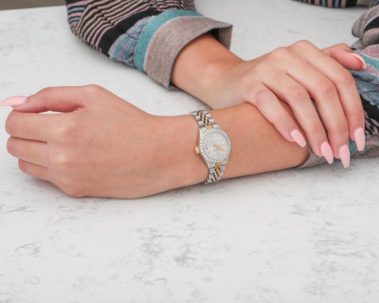 Women's Ladies Rolex with 2.5 Carat Diamond Custom Dial and Bezel