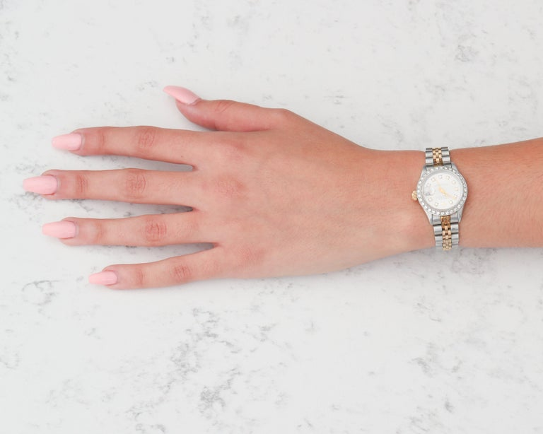 Ladies Rolex with 2.5 Carat Diamond Custom Dial and Bezel 1