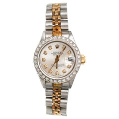 Ladies Rolex with 2.5 Carat Diamond Custom Dial and Bezel