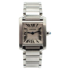 Ladies Stainless Steel Cartier Tank Francaise Watch 2384