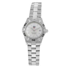 Ladies Tag Heuer Aquaracer WAF1412 Steel Date 300M Quartz Watch