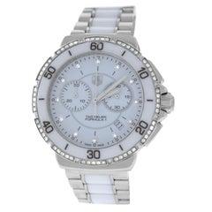 Ladies Tag Heuer Formula Steel Ceramic Diamond Quartz Watch