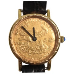 Ladies Ten Dollar 22-Karat Standing Liberty Coin Watch