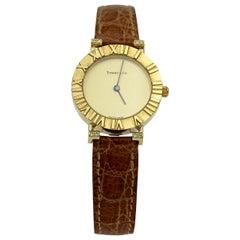 Ladies Tiffany & Co. Atlas 18 Karat Yellow Gold Quartz Ref. 286.753