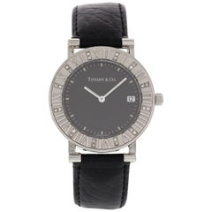 Ladies Tiffany & Co. Atlas Stainless Steel Watch with Diamonds