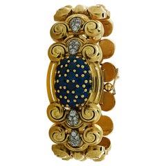 Ladies Tissot Sapphire & Diamond Hidden Face Wristwatch