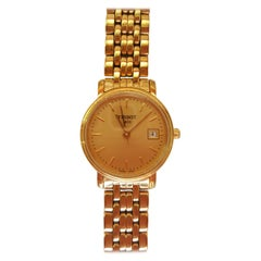 Ladies Tissot Watch Gold-Plated Stainless Steel Water Resistant