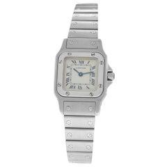Ladies Unisex Cartier Santos Galbee Stainless Steel Quartz Watch