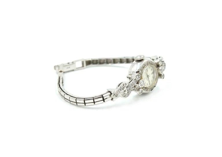 Ladies Vintage 14 Karat White Gold 1.00 Carat Diamond