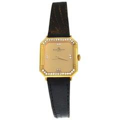 Ladies' Vintage Baume & Mercier 18496 18 Karat Gold Diamond Quartz Watch
